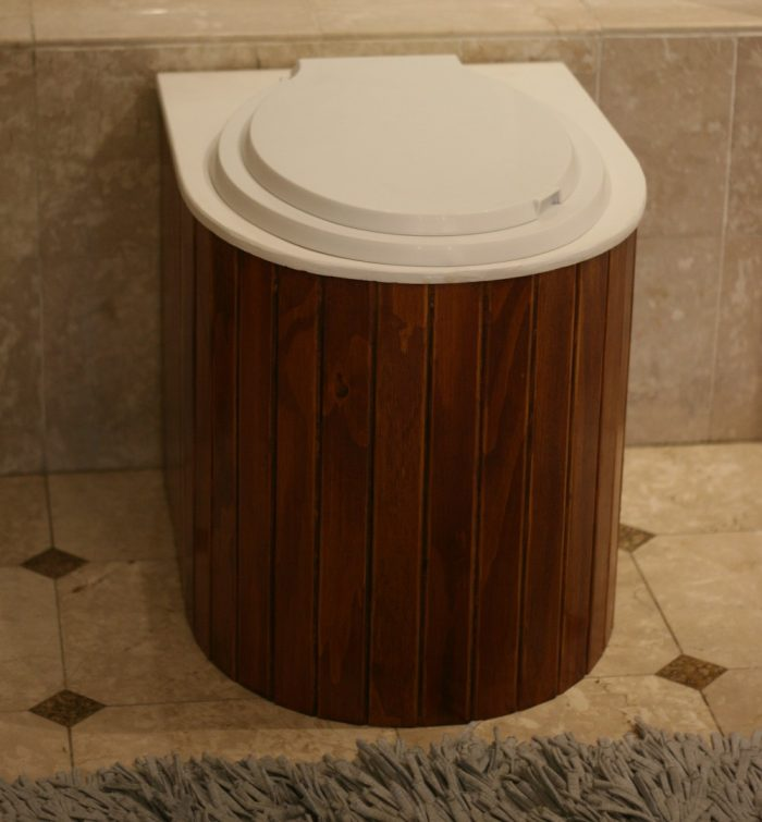 Eco-throne composting toilet - functional and aesthetically pleasing!
